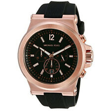 Nuevo Michael Kors MK8184 Dylan Lexington Negra Dial Cuarzo Reloj Para Hombre