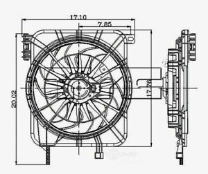 Radiator And Condenser Fan Assy TYC 620100