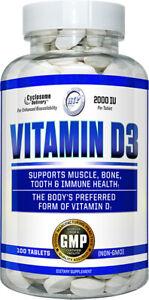Hi-Tech Vitamin D3 2000 IU (100 Tablets) Muscle, Bone, Tooth, Immune Health