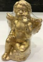 "Vintage Gold Gilt Angel Cherub Candle Appx. 4"" Tall New in plastic"