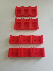 6 Pack 3D Printed Tool Holder & Battery Holder for Milwaukee M18 6 Pack Red