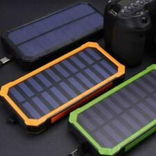 ✅10000mAh Solar Power Bank Battery Charger 2 USB Waterproof For Cell Phone US✅🔥
