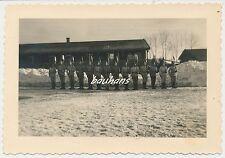 Photo soldats avec pelle roue 2/262 anciens monte 2.wk (g387)