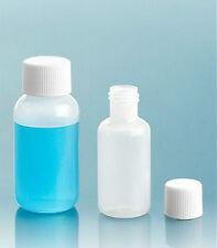 1/2 oz (15 ml) HDPE Plastic Bottles w/Screw-On Caps (Lot of 50)