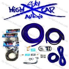 Sky High Car Audio Blue 1/0 AWG to Dual 4 Gauge Complete Amp Kit Split Ga