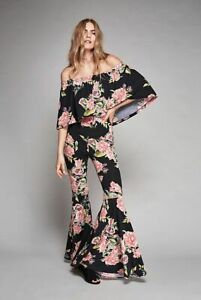 Free People NWT Size Small LA Babe Flared Jumpsuit NEW