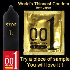 Okamoto Condom 001 0.01 Zero One Ultrasensitive Extra Thin PU Latex-free Large L