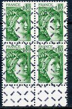 RARE / TIMBRE FRANCE N° 1970  BLOC DE 4 TIMBRE OBLITERE ANNULE POUR REVERSEMENT