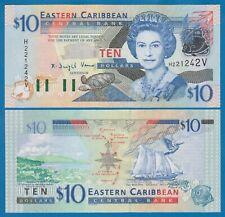 East Caribbean States 10 Dollars P 43v UNC St. Vincent Low Shipping Combine 43 V