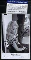 Brigitte Bardot Psa/dna Coa Hand Signed Photo Postcard Authenticated Autograph
