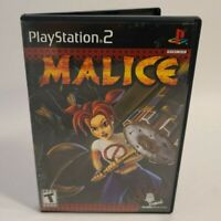 Malice - PlayStation 2 PS2 - Tested And Working With Manual & Registration Card!