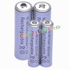 2 Aa 3000 Mah + 2 Aaa 1800mah 1.2 v Ni-mh Batería Recargable De 2a 3a Gris Celular