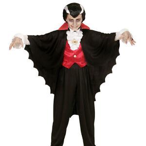 VAMPIR UMHANG KINDER Halloween Karneval Fasching Dracula Kostüm Jungen Cape 0035