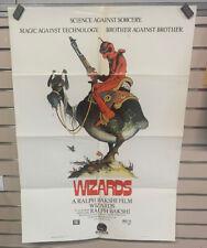 Original 1987 WIZARDS Ralph Bakshi 27x38 Playhouse Video Promo Movie Poster FLD