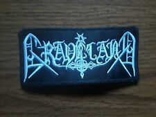 Graveland,Sew On White Embroidered Patch