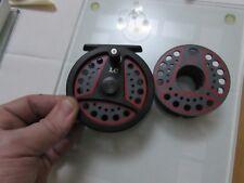v good  vintage Leeda LC80 trout fly fishing reel  +  spool 3.+ 3/8ths .`/,.