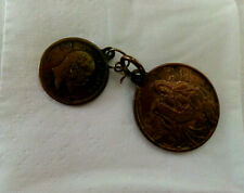 Vintage WW1 Trench Art  Pair Lucky Medals/Coins -  Lord's Prayer and Psalm 119
