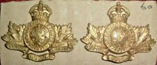 COLLAR BADGES-MATCHED PAIR CANADIAN PRE 1914 MILITA 93rd CUMBERLAND INFANTRY