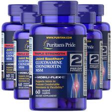 Puritan's Pride 3X Strength 1500mg Glucosamine Chondroitin & MSM 5X60 Caps USA