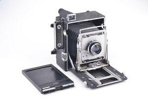 EXC++ GRAFLEX CROWN GRAPHIC 4x5 FIELD CAMERA w/135mm f4.7 XENAR LENS, +HOLDER