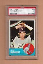 1963 TOPPS JOHN BUZHARDT BASEBALL CARD #35 - GRADED NEAR MINT PSA 7 - WHITE SOX