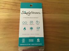 Simply Straws Reusable Glass Straw with Brush and Sleeve in Gray