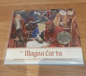 2015 £2 COIN UK TWO POUNDS MAGNA CARTA PACK FOLDER SEALED ROYAL MINT UNCIRCULATE