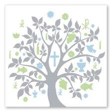 20 Servietten Baum Symbole hellblau Kommunion Taufe Konfirmation