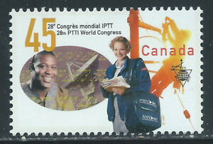 Canada #1657(1) 1997 45 cent 28th WORLD CONGRESS OF THE PTTI LABOUR UNION MNH