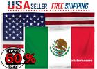 USA MEXICO 3X5 FT NATIONAL FLAGS COMBO SET PREMIUM QUALITY TEXAS SHIPPING ⚡