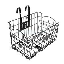 Foldable Bike Basket Bicycle Storage Basket Detachable Front Rear Black