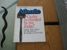 1969 Atlantic August, Jessica Mitford, W.S. Merwin, Robert Jay Lifton, Gold, ET