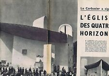 COUPURE DE PRESSE CLIPPING 1955 LE CORBUSIER   (4 pages)
