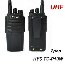 10W UHF 400-480Mhz Handheld Two Way Ham Amateur Radio Transceiver 2200mAh Li-ion