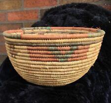 Hausa Tribal Nigerian Hand Woven Coil Basket