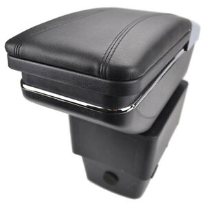 Black Central Armrest Console Cup Box For Ford Fiesta 2009-2017 Rotatable