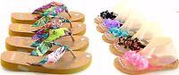 Women's Multi Color Jelly Flip Flop Thong Sandal Beach Slipper Equa Shoe Sz 5-10