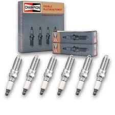 6 pc Champion Double Platinum Spark Plugs for 2004-2009 Cadillac SRX - Pre qn