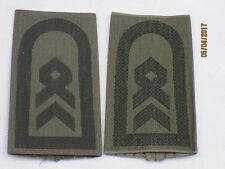 Bundeswehr Shoulder Marks: Sergeant, Army, Black/Olive