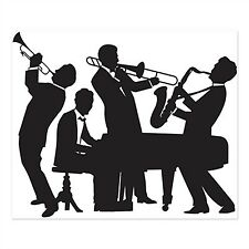 Roaring GREAT 20'S Mardi Gras Party Decoration JAZZ BAND Wall Mural Photo Prop