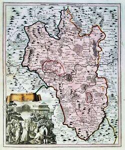 Cheb Eger Czech Bohemia Böhmen map Karte Kupferstich engraving Weigel 1720