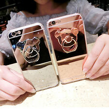 HOT Shockproof Fashion Mirror Crystal Ring Holder Stand Case for Phones Cover