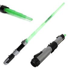 Green Hot Fim Light Up Laser Light Saber adjustable Lightsaber Sword kid toy