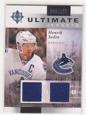 2011/12 Ultimate Collection Jerseys Henrik Sedin dual jersey card 045/100