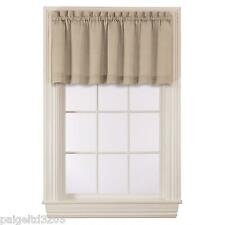 Essential Home Single One (1)  Tailored Solid Valance  - Sand  60x16""