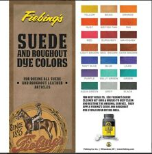 Fiebing's Suede and Roughout Leather Dye All Colors Great for Bags & Shoes 4 Oz