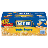 ACT II Butter Lovers Microwave Popcorn 2.75 oz., 32 pk. - 2 Packs