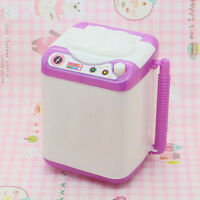 EE_ SILICONE MINI WASHING MACHINE TOY DOLL HOUSE FURNITURE GIFT FOR BARBIE SUPRE