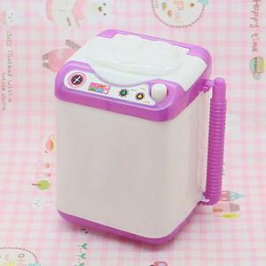 EG_ UK_ SILICONE MINI WASHING MACHINE TOY DOLL HOUSE FURNITURE GIFT FOR -BARBIE