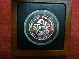1987 M.L.B. ALL STR GAME 1 OZ. .999 FINE SILVER ROUND - M.L.B. BASEBALL LICENSEE